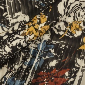 Ungaro album floral print on pleated fabric