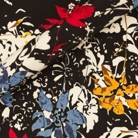 Ungaro album floral print on matte satin