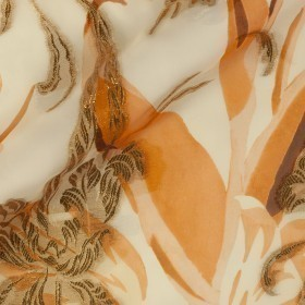 Stampa floreale su fil coupè ornamentale