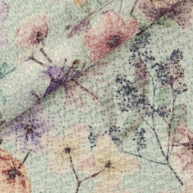 Carnet de mode floral print on embroidered tulle