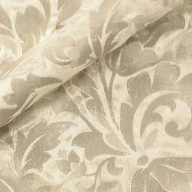 Velluto seta viscosa con stampa ornamentale a pigmento