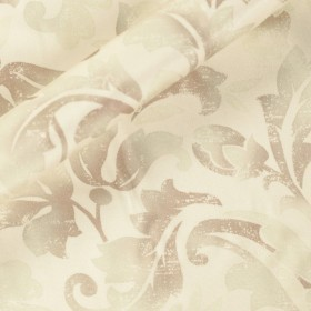 Stampa ornamentale su sfondo seta nigel