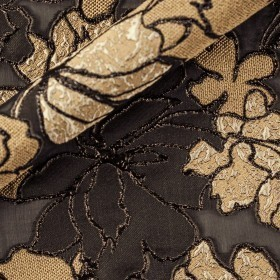 Carnet Couture floral fil coupè nigel fabric