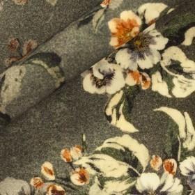 Cappotto lana stampato floreale