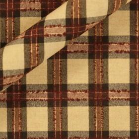 Carnet Style tartan wool fabric