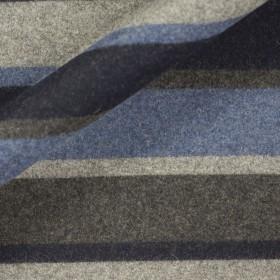 Carnet Style barrè wool jaersey fabric