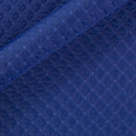 Carnet Style quilted embroidered fabric