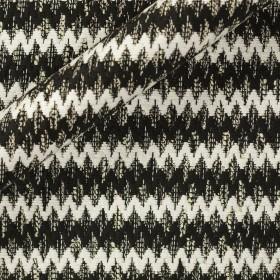 Carnet Style bicolor jacquard fabric chevron effect