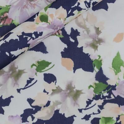 Floral printed Chiffon, 100% silk