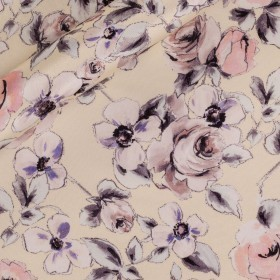 Floral Printed nigel silk