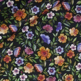 Floral printed popeline
