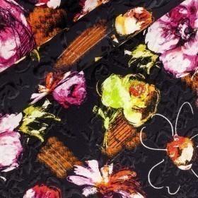 Floral printed Matelassè