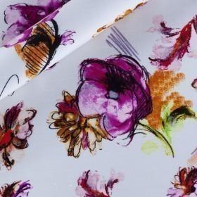 Printed silk shantung
