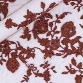 Ricamo floreale spalmato su tulle h 60 cm