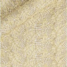 Macramè lurex floreale effetto rete