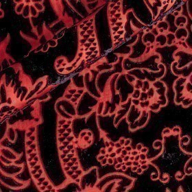 Floral print on devorè fabric
