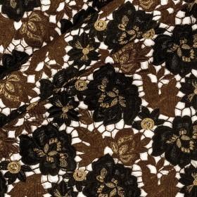 Lurex wool macramé fabric