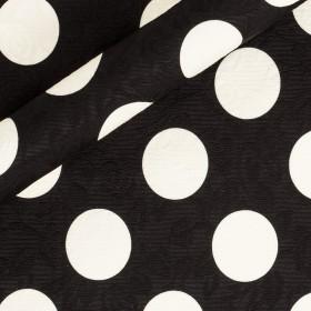 Polka dots printed fabric