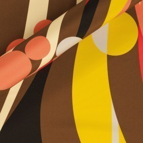 Geometric printed fabric