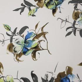 Carnet de Mode printed silk rose pattern