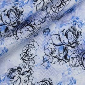 Carnet de Mode print on pure silk jacquard