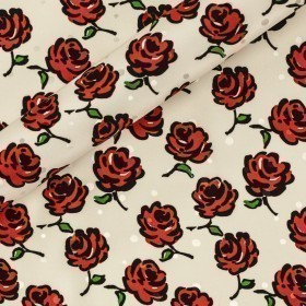 Ungaro album floral print on jacquard silk pois