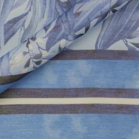 Carnet de mode print on sheer silk cotton