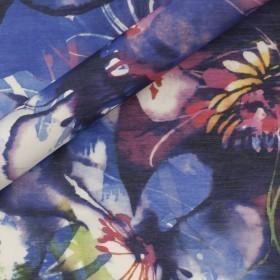 Carnet de mode print on silk cotton