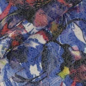 Carnet de mode print on sangallo cotton