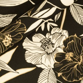 Ungaro album print on crèpe wool fabric