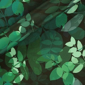 Ungaro Album print on matte satin fabric
