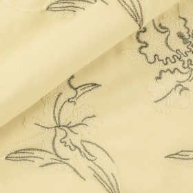 Carnet Couture embroidered crèpe wool fabric