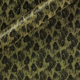 Carnet Style floral design cinz-effect jacquard fabric