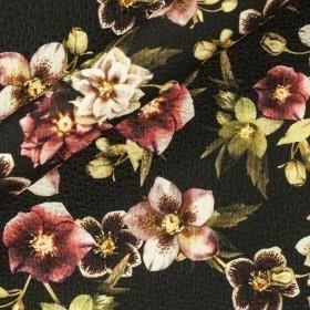 Carnet Style print on wool silk matelassè fabric