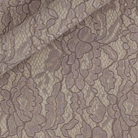 Double-layer fabric with coated lace, Jersey