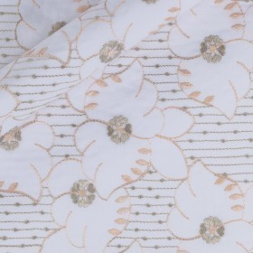 Floral Sangallo embroidery h 115cm