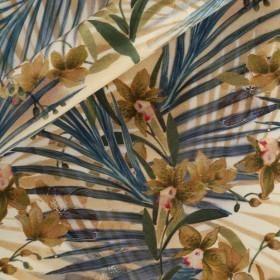 Floral printed Shantung, 100% silk