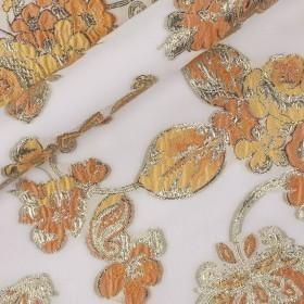 Floral Jaquard fil coupé with lurex