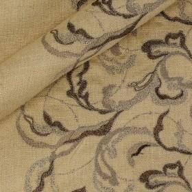 Embroidery on silk Bourette h 100 cm