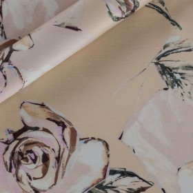 Floral printed shantung