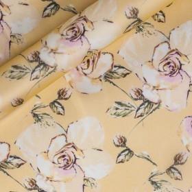 Floral printed organza, 100% silk