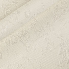 Brocade stretch silk cotton