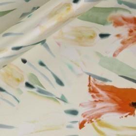 Floral printed Duchesse