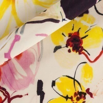 Floral macro print fabric