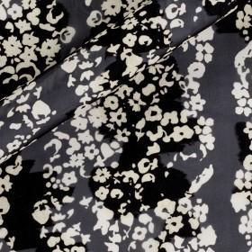 Stampa floreale bicolore