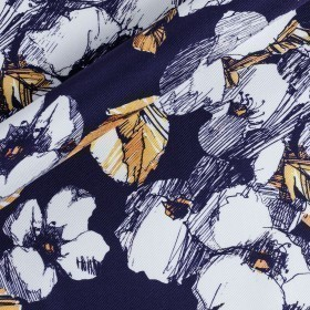 Floral pattern printed fabric