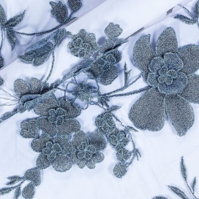 Floral embroidered fabric