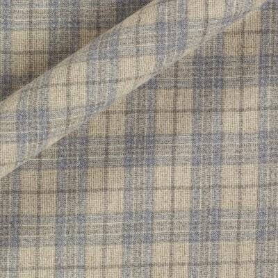 Check melange wool fabric