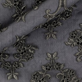 Jacquard fil coupè silk fabric