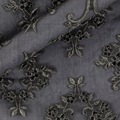Jacquard fil coupè silk fabric